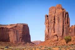 La mano de dios y del Mesa de Thunderbird, valle del monumento Imágenes de archivo libres de regalías