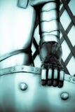 La mano de hierro de un caballero Foto de archivo libre de regalías