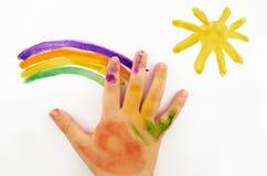 La mano del bambino Immagini Stock Libere da Diritti