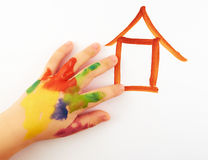 La mano del bambino Immagini Stock