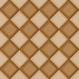 La mano del fumetto annega la struttura senza cuciture diagonale beige e marrone delle mattonelle Immagine Stock