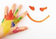 La mano del niño Foto de archivo libre de regalías