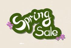 La mano del vector bosquejó venta de la primavera Fotografía de archivo