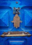 La mano dell'amuleto di Hamsa o di Fatima o Miriams passa la mano di Miriam Amuleto popolare in tutto Medio Oriente e del nord fotografia stock