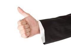 La mano dell'uomo di affari sfoglia in su Fotografia Stock