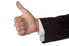 La mano dell'uomo di affari sfoglia in su Immagine Stock Libera da Diritti