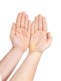 La mano dell'uomo isolata Fotografia Stock