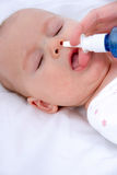 Pulizia del naso Fotografia Stock