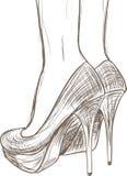 Schizzo delle scarpe Fotografia Stock Libera da Diritti