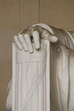 La mano derecha de Abe Lincoln Imagen de archivo libre de regalías