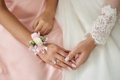 La mano di bella sposa Fotografia Stock Libera da Diritti