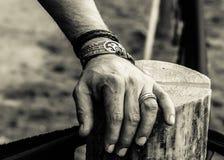 La mano di un guerriero Fotografia Stock Libera da Diritti