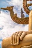 La mano dorata di Buddha Fotografia Stock Libera da Diritti