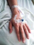 La mano enferma Imagen de archivo libre de regalías