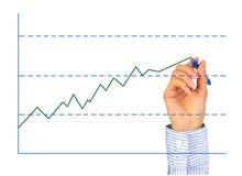 La mano es gráfico del gráfico. Imagenes de archivo
