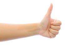 La mano gradice il concetto Fotografia Stock
