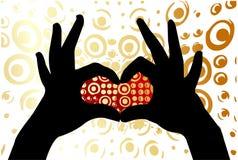 La mano hace el corazón Fotos de archivo