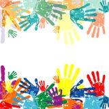 La mano imprime el fondo stock de ilustración