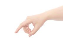 La mano indica la dirección. fotos de archivo libres de regalías