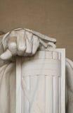 La mano izquierda de Abe Lincoln Imagen de archivo