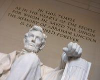 La mano izquierda de Lincoln Fotos de archivo