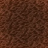 La mano marrón inconsútil de la elegancia escribe el modelo Imágenes de archivo libres de regalías