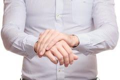 La mano maschio danneggia il braccio del polso immagini stock libere da diritti