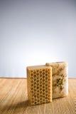 La mano naturale perfezionamento il sapone. fotografia stock libera da diritti