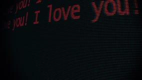 La mano que mecanografía te quiero redacta la escritura en viejo cierre llevado de la pantalla de la pantalla de ordenador del tu stock de ilustración