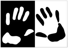 La mano stampa l'illustrazione Fotografia Stock Libera da Diritti