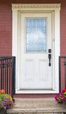 La mano vittoriana d'annata ha elaborato la porta di legno Fotografie Stock Libere da Diritti