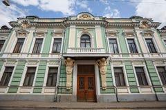 La mansión anterior de V e Morozov en el Podsosensky-carril, construido 1878 Moscú, Rusia foto de archivo
