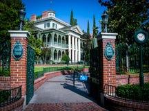 La mansión frecuentada - Disneyland Fotografía de archivo