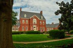 La mansión y los argumentos del ` s del gobernador de Maryland imágenes de archivo libres de regalías