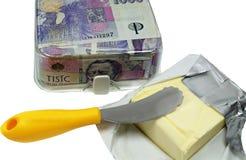 La mantequilla costosa Imagen de archivo libre de regalías