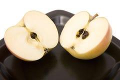 La manzana del corte fotos de archivo