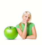 La manzana grande. Foto de archivo
