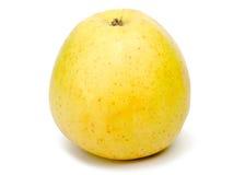 La manzana hermosa en un fondo blanco Fotografía de archivo libre de regalías
