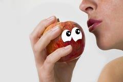 La manzana vergonzosa Fotos de archivo libres de regalías
