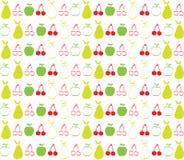 La manzana y la pera de cereza wallpaper el fondo Imagen de archivo libre de regalías
