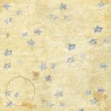 La mappa d'annata di sguardo Stars e schizza il fondo di carta di lerciume Fotografie Stock