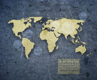 La mappa del mondo futuristica Fotografia Stock