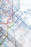La mappa del tubo Fotografia Stock