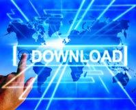 La mappa di download visualizza scaricare di download e le informazioni Tran Fotografie Stock