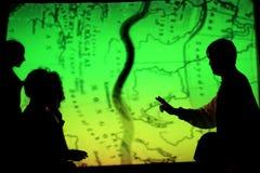 La mappa di itinerario di seta con le ombre Fotografia Stock