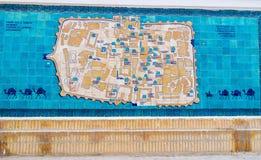 La mappa di Khiva Fotografia Stock