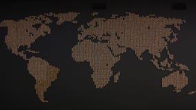 La mappa di mondo sulla parete video d archivio