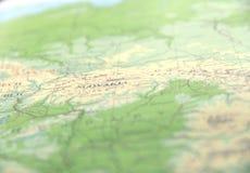 La mappa di mondo verde per va concetto verde Fotografie Stock Libere da Diritti