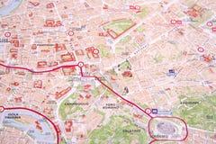 La mappa di Roma Fotografie Stock