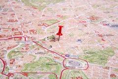 La mappa di Roma Fotografia Stock